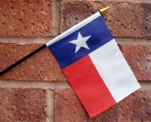 HAND WAVING FLAG (SMALL) - Texas